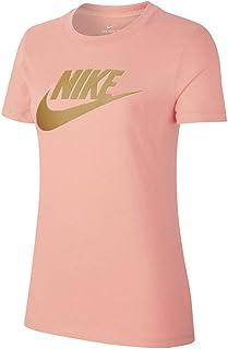 ff1164e2 Nike Women's ESSNTL ICON FUTURA T-Shirt, Gold, Medium