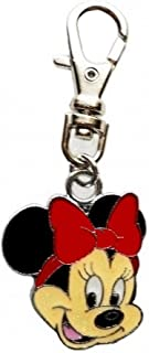 Heavens Jewelry Small RED Minnie Mouse Charm PET Collar Dog TAG Purse Jacket Backpack Fan Zipper Pull Keychain