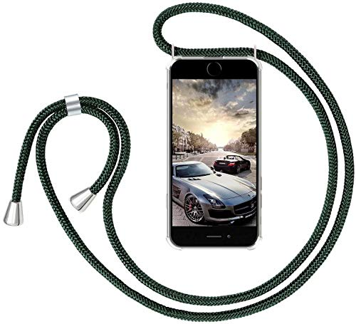 GoodcAcy Handykette Hülle für Samsung Galaxy J4 Core Necklace Hülle mit Kordel zum Umhängen Necklace Transparent Silikon [+Panzerglas Schutzfolie]