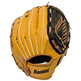 Franklin Sports Baseball and Softball Glove - Field Master - Baseball and Softball Mitt - Adult and Youth Glove - Right Hand Throw - 13', Tan