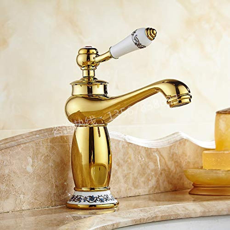JONTON Taps Taps Taps Hot And Cold Water Faucet Bathroom Single Hole Hot And Cold Water Faucet Basin Water Saving