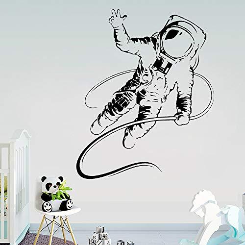 Adesivo da parete in vinile, motivo: astronauta, per camera dei bambini, rimovibile, 70 x 57 cm
