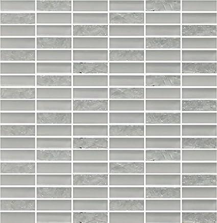 WST-25C-SAMPLE Glass Subway Backsplash Tile Kolors Series for Kitchen and Bathroom by WS Tiles Color Sample, Moonlight Gray