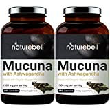 2 Pack Organic NatureBell Mucuna 1500mg Per Serving, 240 Capsules, Contains Premium Mucuna Pruriens Seeds for Mood Mind and Brain Health, No GMOs, Made in USA