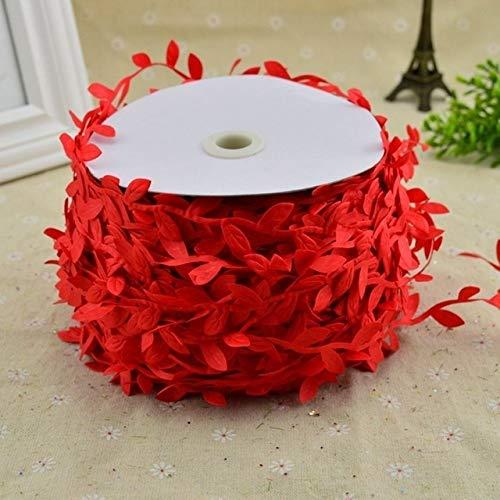 Artificial Garland,Garland Decorations,200cm DIY Artificial Flowers Vine Christmas for Home Wedding Car Decor Accessories Plants Leaf Vine Wreath Flower Garland Decor (Color : Red)