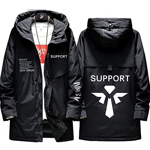 73HA73 Herren Warme Winterjacke LOL League of Legends Esports Support Uniform Kapuzen Coat Hoodie Komfortable Übergangsjacke Sweatshirt Jacken (No Shirt),Black,3XL(185-190cm)