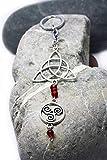 Llavero con símbolos de protección, Triskel y Triqueta, Llavero celta, Llavero lohas, Druida, Llavero amuleto, Estilo Boho chic