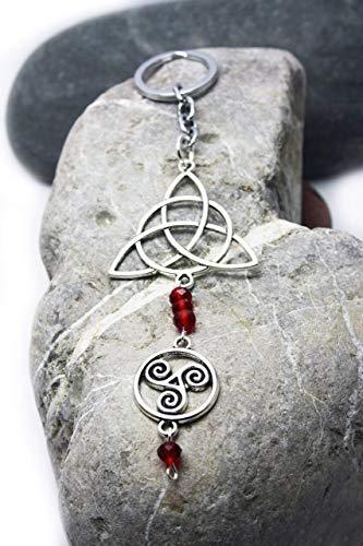 Llavero con símbolos de protección, Triskel y Triqueta, Llavero celt