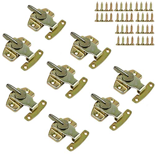LepoHome 8 Pieces Metal Table Locks Dining Training Table Buckles Connectors Hardware Accessories - Brass Plated