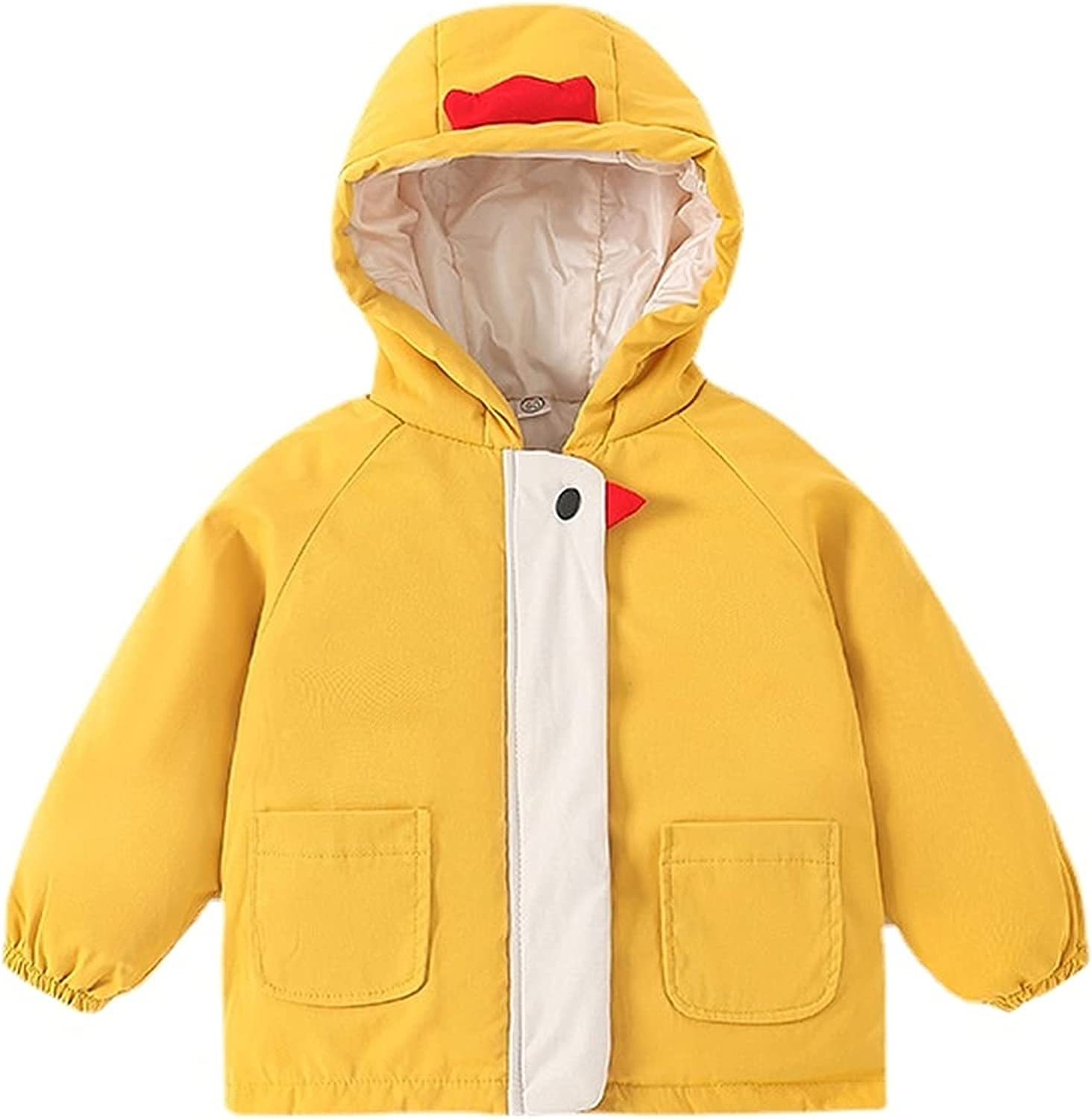 Hooded Down Alternative Solid Color Toddler Cotton Jacket for Boys and Girls Windproof thick warm light jacket
