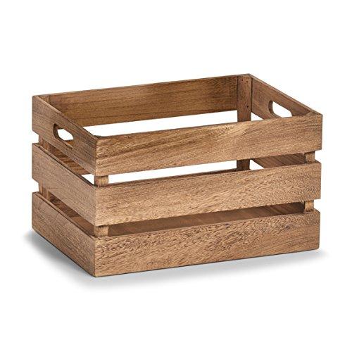 Zeller 15166 Aufbewahrungs-Kiste Vintage, Holz Kiste, ca. 35 x 25 x 20 cm, Natur, Holz
