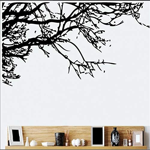 GUDOJK Muursticker Zwarte boom tak muur sticker voor kamer raam deur raam kamer plant decoratieWoonkamer slaapkamer decoratie