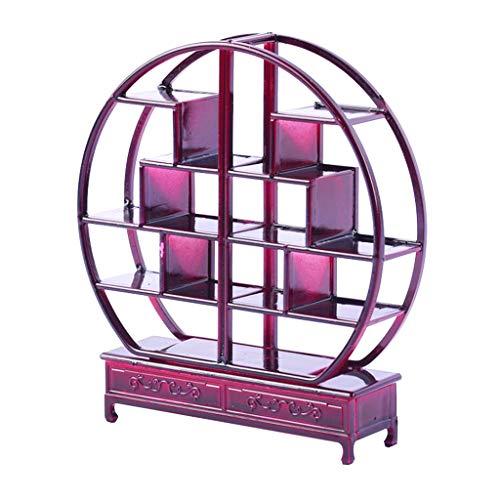 Homyl Rundes Antike Chinesische Mini Regal Miniatur Möbel für 1/25 Puppenhaus