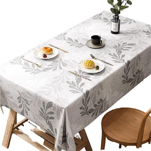 Mantel De PVC para Hotel, Restaurante, Rectangular, Impermeable Y A Prueba De Aceite, Mantel Cuadrado para Café, Mantel Redondo con Estampado De Hojas De Color Puro 120x160cm