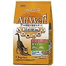 オールウェル(AllWell)キャットフード ドライ 室内猫用 厳選素材入り フィッシュ味 吐き戻し軽減 1.5kg 国産 ユニチャーム