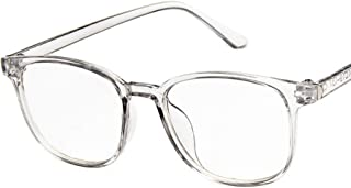 Unisex Glasses Frame Fashion Bright Black Square Full Frame Decoration Prescription Glasses