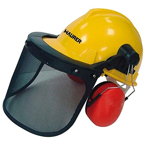 MAURER Casco Con Visera, Protector Facial De Rejilla y Protector Auditivo