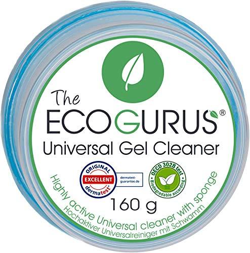 The EcoGurus Universal Gelreiniger mit Schwamm, Umweltfreundlich, für alle Zwecke - für Küche, Bad, lackierte Oberflächen, Laminatböden, Fleckenentferner auf Kleidung, Teppich, Polster