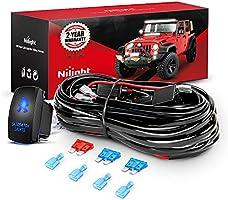 Deal on Nilight - 10013W NI -WA 07 LED Light Bar Wiring Harness Kit SASQUATCH LIGHTS 12V 5Pin Rocker Switch Laser On off...