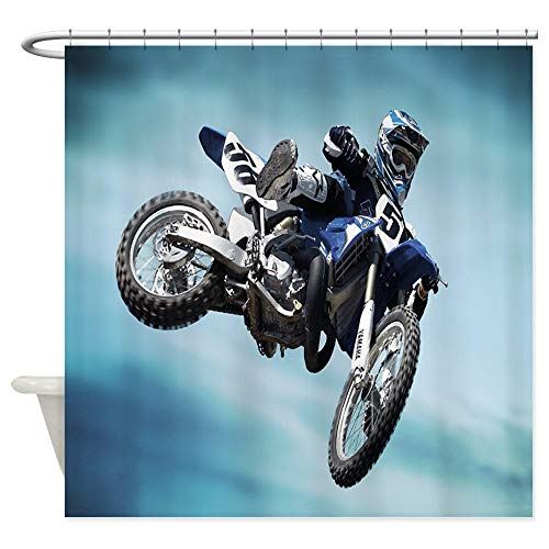 CafePress Dirt Bike Jump Shower Curtain