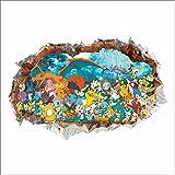 Ice-Beaut Accesorios De DecoracióN del Hogar Pegatinas De Pared 3D Muraux AnimacióN De Dibujos Animados Pokemon para HabitacióN De NiñOs CalcomaníAs ExtraíBles
