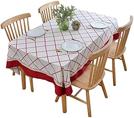 Tablecloth,Polyester Cotton Fabric Coffee Table Cloth Pastoral Style Solid Color Geometry (Color : Green, Size : 140 * 140CM) meyeye (Color : Blue, Size : 140 * 140CM)