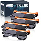 OfficeWorld Compatible Toner Cartridge Replacement for Brother TN450 TN-450 TN420 for HL-2270DW HL-2280DW HL-2230 HL-2240 MFC-7360N MFC-7860DW DCP-7065DN Intellifax 2840 (Black, High Yield, 4-Pack)