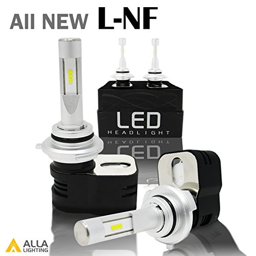 Alla Lighting 8400 Lumens Extremely Super Bright 6000K Xenon White High Power Mini 9012 HIR2 LED Bulbs with Turbine Heating - 2 Years Warranty