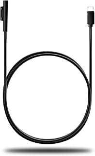 Surface Pro USB-C充電ケーブル 15V PD充電に対応 type C マイクロソフト Surface Pro 6/ Pro 5/ Pro 4/ Pro 3/ Surface Go/Surface Book/Surface Laptop対応 USB-C充電 1.8M (黒)