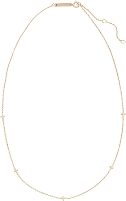 Zoe Chicco Women's 14k Gold Itty Bitty Cross Necklace