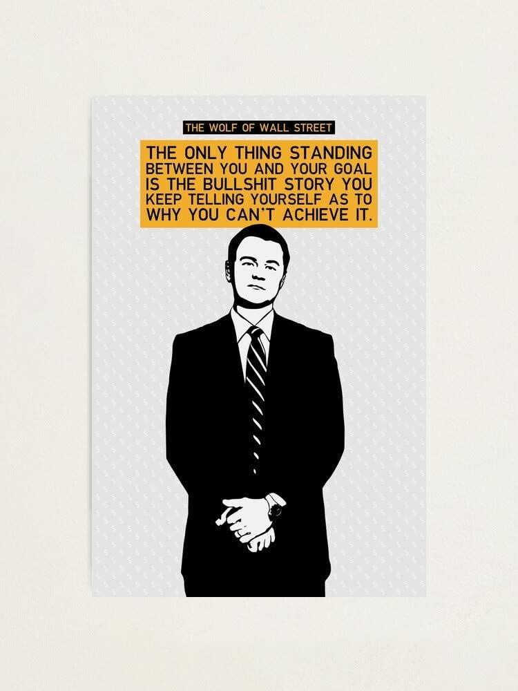 Wolf of Wall Street Movie Poster Funny Office Art Style Decor Home Decor