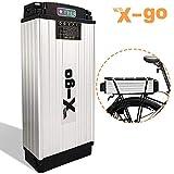 X-go Bateria Bicicleta Electrica 48v 1000w 48V 20Ah 1000W Cell Holder Back Carrier Batería de...