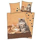 Biancheria da letto double face, motivo: gatti, 135 x 200 cm