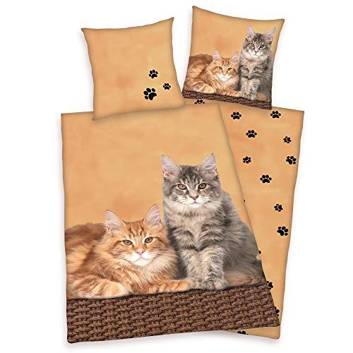 Wende Bettwäsche Katzen Bettwäsche 135 x 200cm