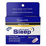 Puritan's Pride Tri-Layer Sleep Complex with 10mg of Melatonin* That Helps Promote Sleep, White, 30 Count