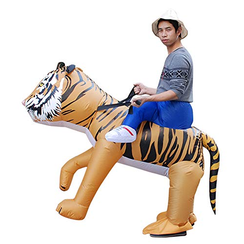 JJAIR Disfraces de Tigre Inflable de Halloween para Adultos y niños,Adult