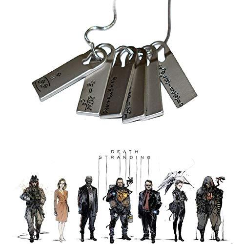 Tian Shan Shan Death Stranded Halskette Set, Spiel Death Stranding Sam Halskette, Lange Halskette Kette Choker Collares für Mann oder Frau. (1 Satz)