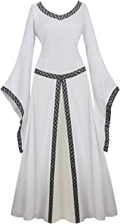Women Renaissance Dress and Chemise Medieval Costume Irish Over Dress Long Gown