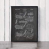 """キャンバス絵画ゴルフクラブ特許青写真写真壁アートポスターとプリントリビングルームオフィス家の装飾23.6"""" x35.4""""(60x90cm)フレームレス"""
