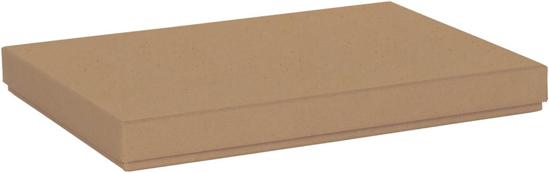 Rössler Papier - - Boxline Kartonage Kraft 225x325x30 mm, pass. f. A4 - Liefermenge  4 Stück B07CX5VM9F  | Lebhaft