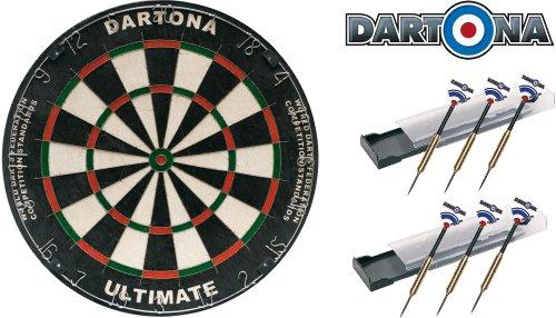 Dartona Dartboard Ultimate inkl. 6 Steeldarts