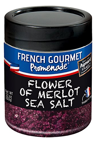Flower of Merlot Sea Salt for Meat, Fish & Vegetables - 5.3 oz - SPECIAL PRICE