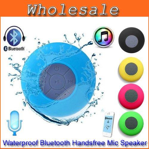 FLY-SHOP-Mini Bluetooth Altoparlante Stereo Portatile Impermeabile Wireless con Ventosa - Blu