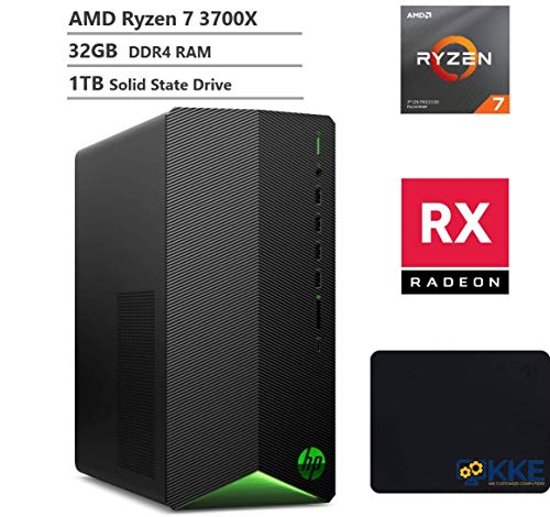 Hp Pavilion Tg01 Gaming Desktop Pc Amd Ryzen 7 3700x 8 Core Processor Better Than I9 9900 Amd Radeon Rx 550 Graphics 32gb Ddr4 Ram 1tb Ssd Hdmi Wi Fi Kke Mousepad Bundle Win10 Gaming