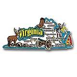 Virginia State Jumbo Map Magnet