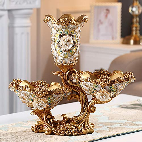 VSander Geprägte Baum Rebe Getrocknete Obstteller Haushalt Luxus Eingelegten Strass Wohnzimmer Couchtisch Vase Dekoration Kreative Bonbonteller Obstteller