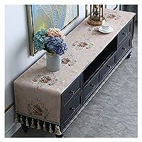 テーブルランナー ヨーロッパのテレビキャビネットカバークロスタッセルテーブルクロステーブルランナー家庭用テレビアーク防塵カバードレッサー (Color : Style 6, Size : 50x240cm)