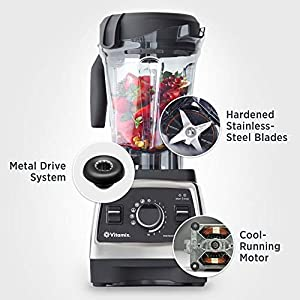 Vitamix 59326 Professional Series 750 Blender, Programmable, Self-Cleaning 64 oz. Container, Heritage