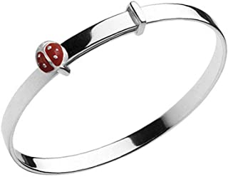 MIXIA Simple Tied Love Knot Bracelet Crystal Red Enamel Ladybug Insect Open Wings Easy Open Charm Cuff Bracelet and Bangle