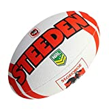 Steeden Ballon de rugby NRL St. George Illawarra Dragons Supporter 2020 Blanc/Rouge - 5
